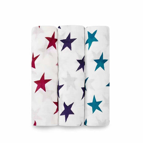 aden + anais Bamboo Swaddles - Celebration - 3 Pack