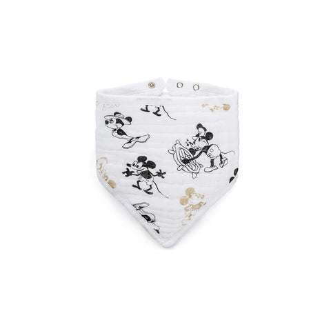 aden + anais Bandana Bib - Mickey's 90th-Bibs-Mickey's 90th- Natural Baby Shower