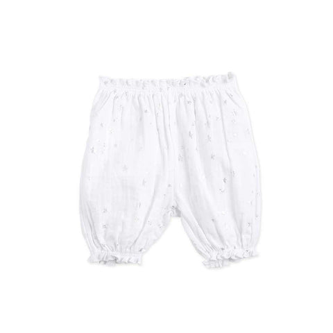 aden + anais Bubble Shorts - Metallic Silver Starburst Front