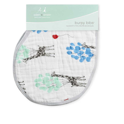 aden + anais Burpy Bibs - Dream Ride - 2 Pack-Bibs-Dream Ride- Natural Baby Shower