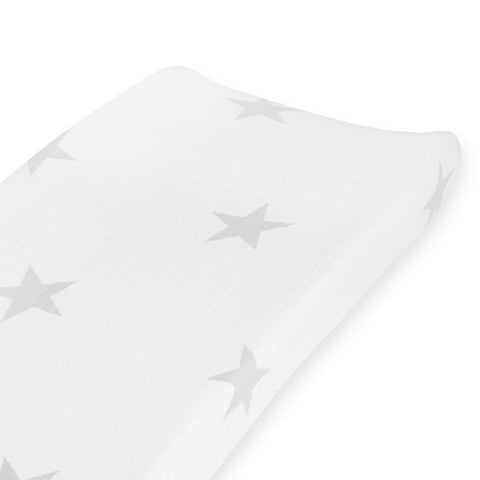 aden + anais Changing Mat Cover - Super Star Scout - Silver Stars