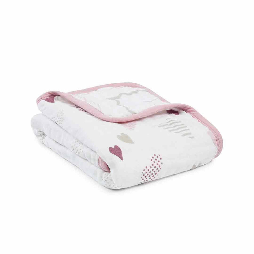 aden + anais Classic Buggy Blanket - Heart Breaker-Blankets- Natural Baby Shower