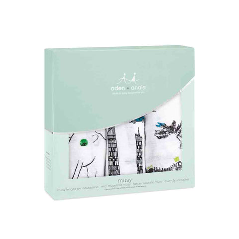 aden + anais Classic Musy - Colour Pop - 3 Pack-Muslin Squares-Colour Pop- Natural Baby Shower