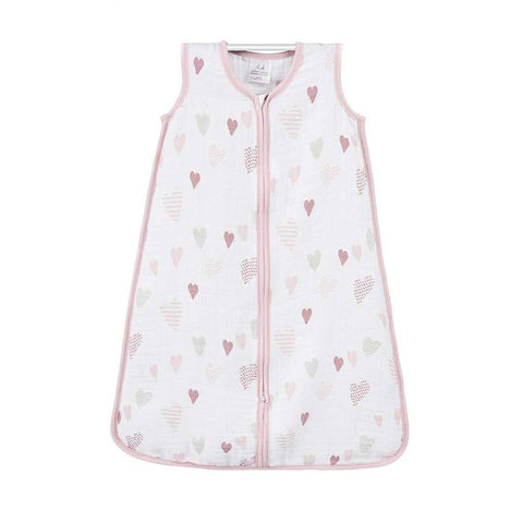 aden + anais Classic Sleeping Bag TOG 1 - Heart Breaker-Sleeping Bags- Natural Baby Shower