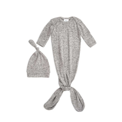 aden + anais Snuggle Knit Gift Set - Heather Grey-Clothing Sets-0-3m-Heather Grey- Natural Baby Shower