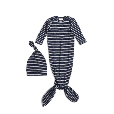 aden + anais Snuggle Knit Gift Set - Navy Stripe-Clothing Sets-0-3m- Natural Baby Shower