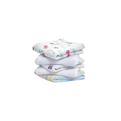 aden + anais Essentials Muslin Squares - Floral Fauna - 5 Pack-Muslin Squares- Natural Baby Shower