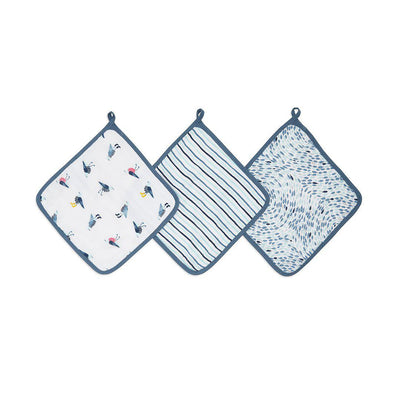 aden + anais Essentials Washcloths - Seashore - 3 Pack-Washcloths- Natural Baby Shower