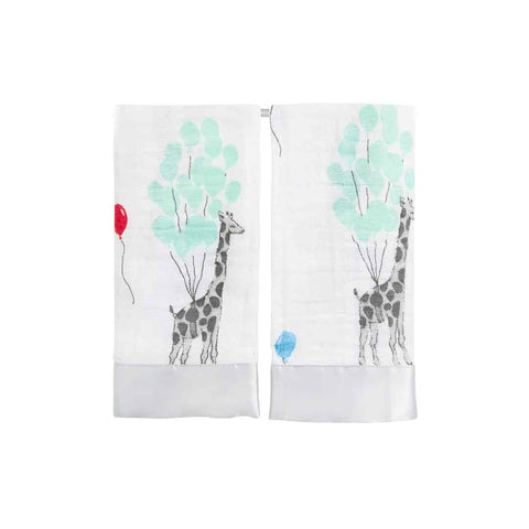 aden + anais Issie Security Blanket - Dream Ride - 2 Pack-Blankets-Dream Ride- Natural Baby Shower