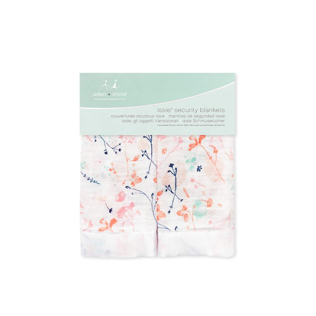 aden + anais Issie Security Blanket - Petal Blooms - 2 Pack-Blankets-Petal Blooms- Natural Baby Shower