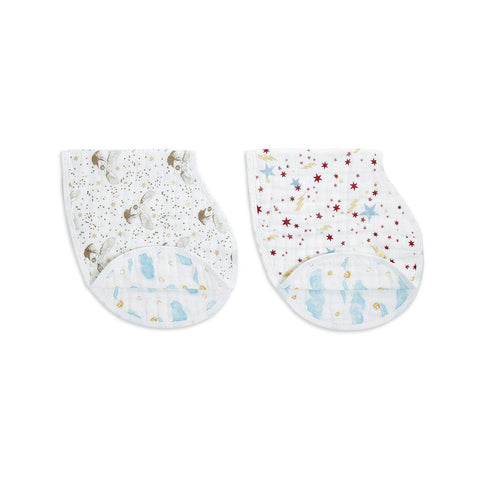 aden + anais Metallic Burpy Bibs - Harry Potter - 2 Pack-Bibs- Natural Baby Shower
