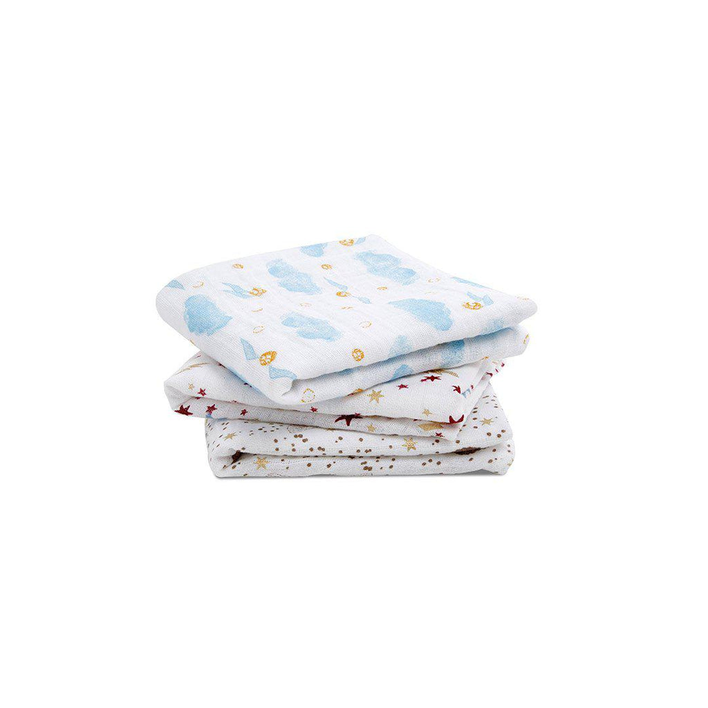 aden + anais Metallic Musys - Harry Potter - 3 Pack-Muslin Squares- Natural Baby Shower