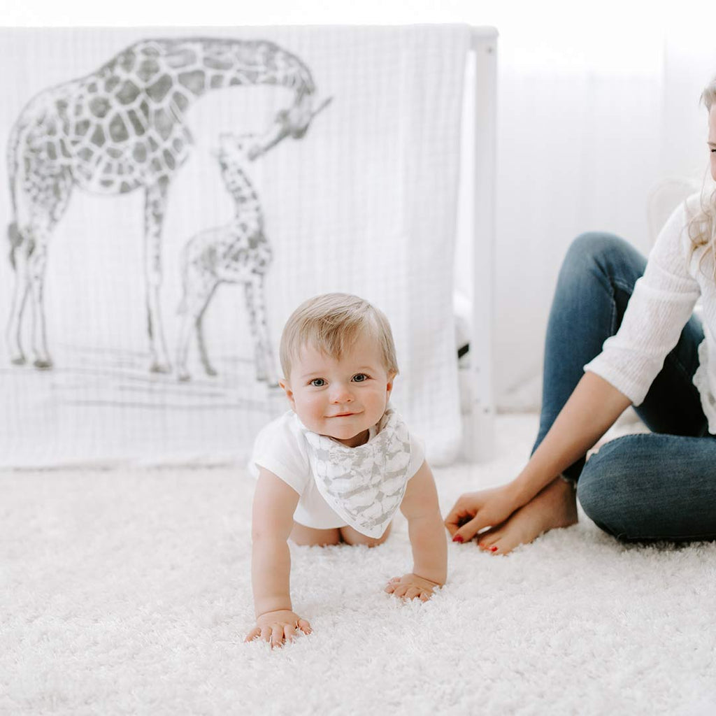 aden + anais Muslin Dream Blanket - Hear Me Roar-Blankets- Natural Baby Shower