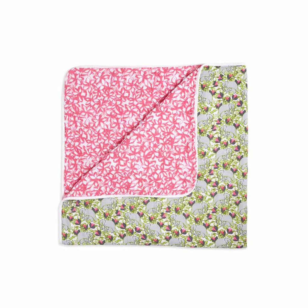 aden + anais Muslin Dream Blanket - Paradise Cove-Blankets-Paradise Cove- Natural Baby Shower