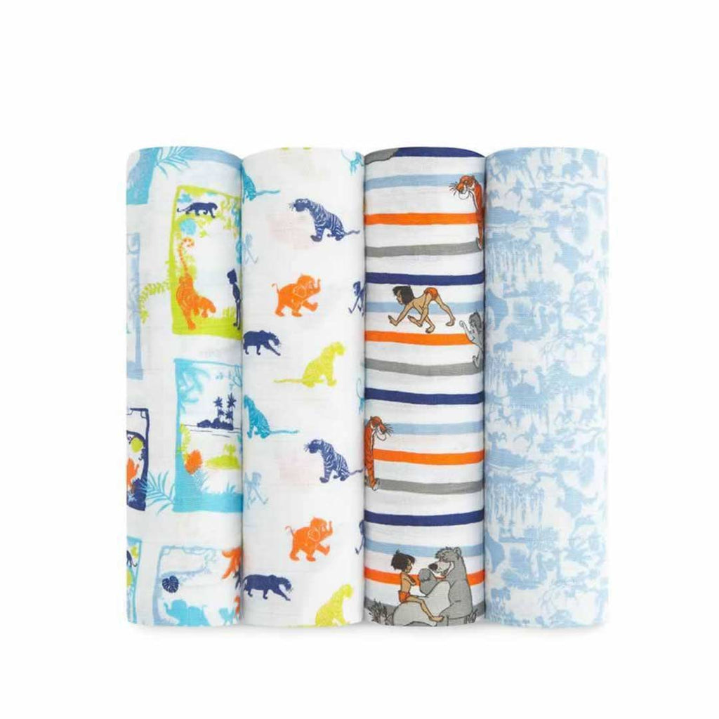 aden + anais Muslin Swaddles - Jungle Book - 4 Pack