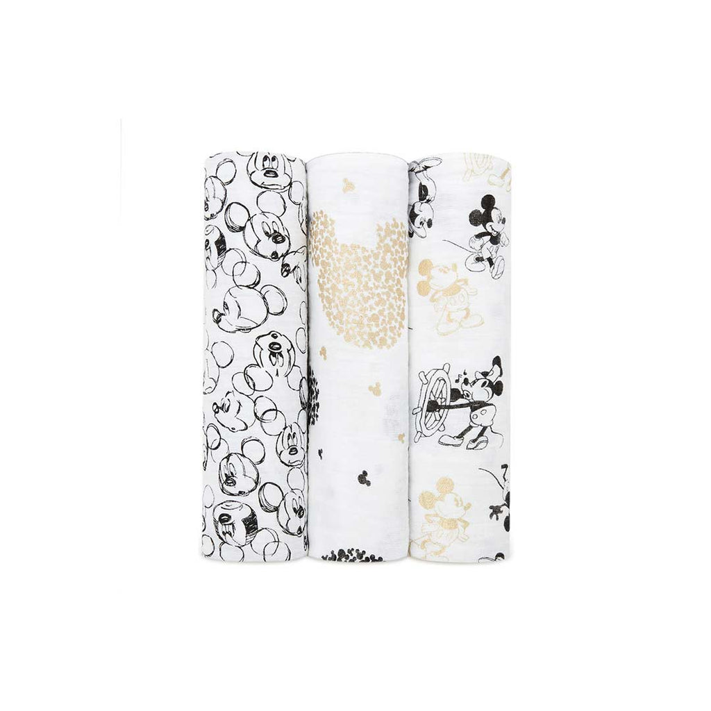 aden + anais Muslin Swaddles - Mickey's 90th - 3 Pack