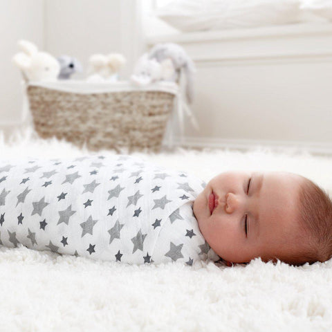 aden + anais Muslin Swaddles - Twinkle - 4 Pack-Swaddling Wraps-Twinkle- Natural Baby Shower