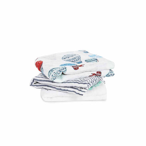 aden + anais Musy - Dream Ride - 3 Pack-Muslin Squares-Dream Ride- Natural Baby Shower