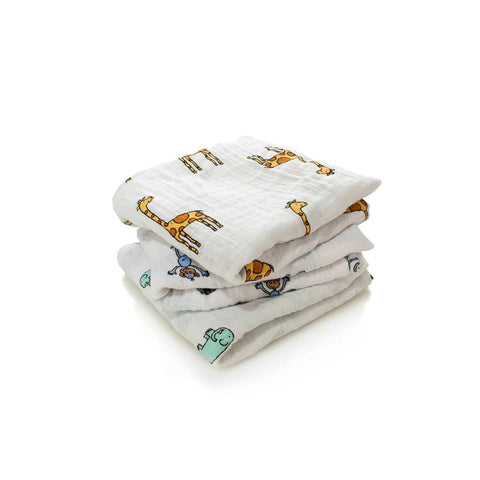 aden + anais Musy - Jungle Jam - 3 Pack-Muslin Squares-Jungle Jam- Natural Baby Shower