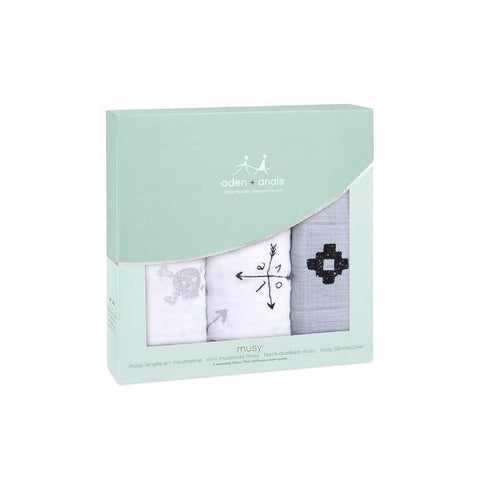 aden + anais Musy - Lovestruck - 3 Pack-Muslin Squares-Lovestruck- Natural Baby Shower