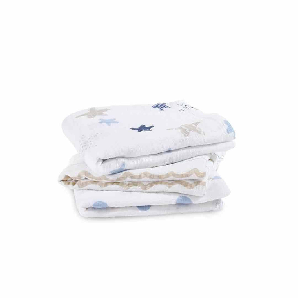 aden + anais Musy - Rock Star - 3 Pack-Muslin Squares-Rock Star- Natural Baby Shower