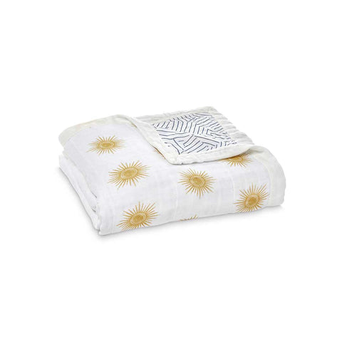 aden + anais Silky Soft Dream Blanket - Golden Sun-Blankets- Natural Baby Shower