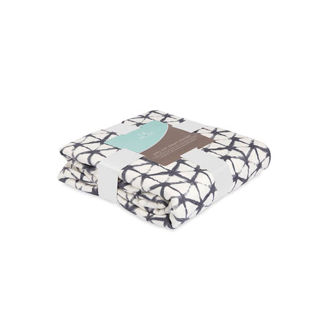 aden + anais Silky Soft Dream Blanket - Pebble Shibori-Blankets-Pebble Shibori- Natural Baby Shower