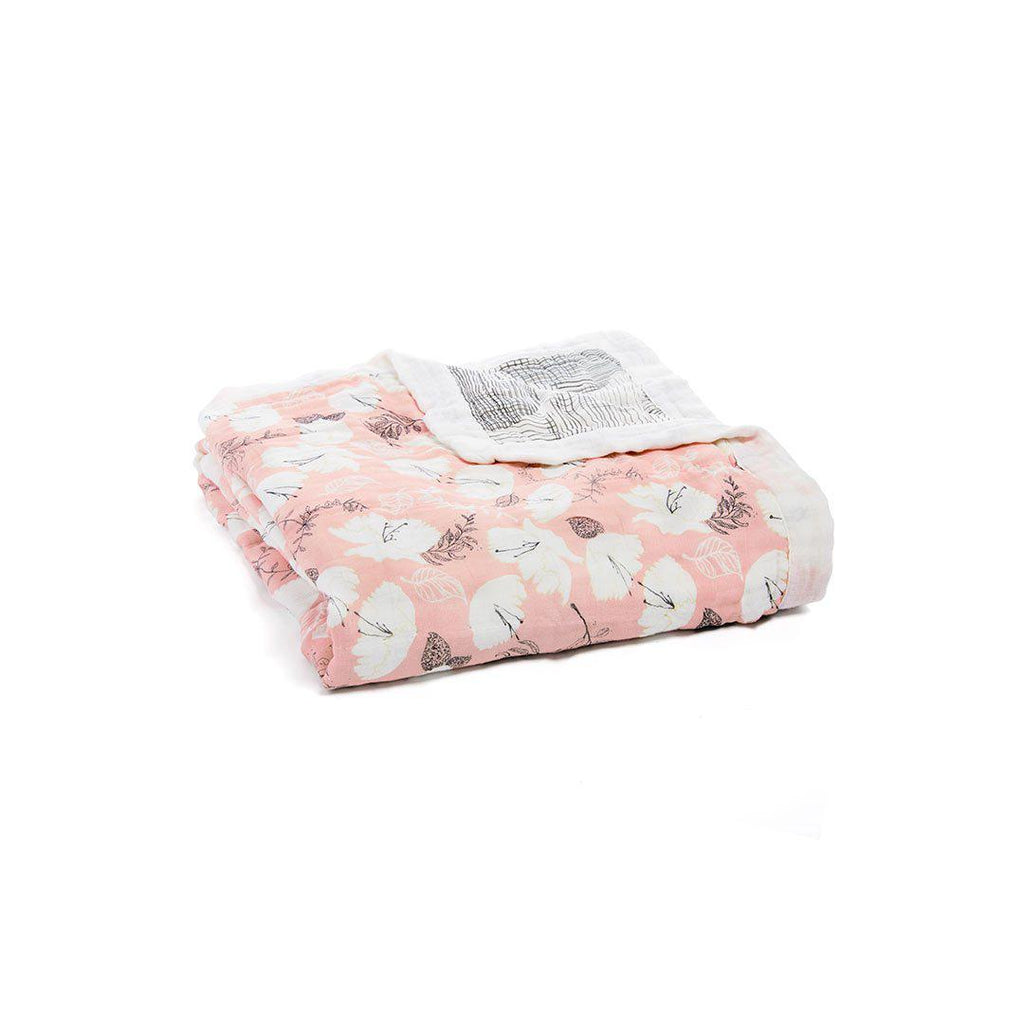 aden + anais Silky Soft Dream Blanket - Pretty Petals-Blankets-Pretty Petals- Natural Baby Shower