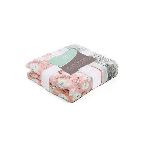 aden + anais Silky Soft Dream Blanket - Pretty Petals 1