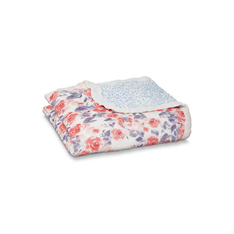 aden + anais Silky Soft Dream Blanket - Watercolour Garden-Blankets-Watercolour Garden- Natural Baby Shower