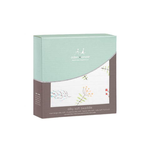 aden + anais Silky Soft Single Swaddle - Lucky Field Flora 2