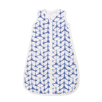 aden + anais Silky Soft Sleeping Bag - Indigo-Sleeping Bags- Natural Baby Shower