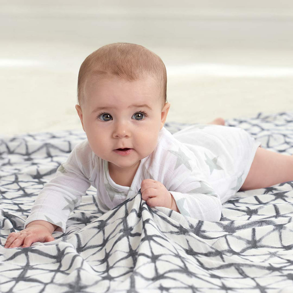 aden + anais Silky Soft Swaddles - Pebble Shibori - 3 Pack-Swaddling Wraps-Pebble Shibori- Natural Baby Shower
