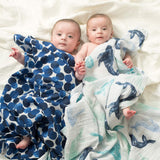 aden + anais Single Muslin Swaddle - Seafaring-Swaddling Wraps-Seafaring- Natural Baby Shower