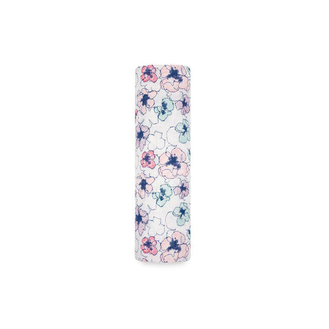 aden + anais Single Muslin Swaddle - Trail Blooms