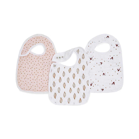 aden + anais Snap Bibs - Dahlia - 3 Pack-Bibs- Natural Baby Shower