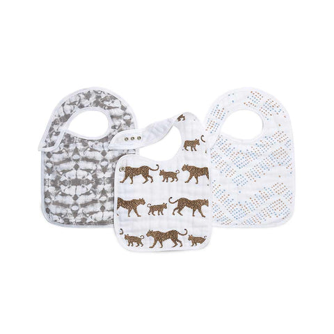 aden + anais Snap Bibs - Hear Me Roar - 3 Pack-Bibs- Natural Baby Shower