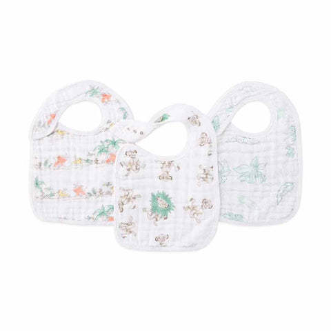 aden + anais Snap Bibs - Lion King - 3 Pack-Bibs-Lion King- Natural Baby Shower
