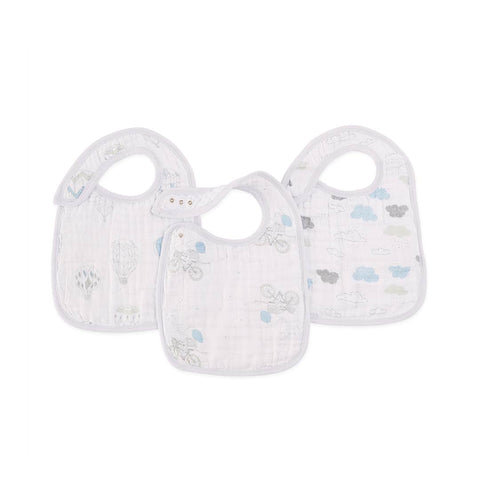 aden + anais Snap Bibs - Night Sky Reverie - 3 Pack-Bibs-Night Sky Reverie- Natural Baby Shower