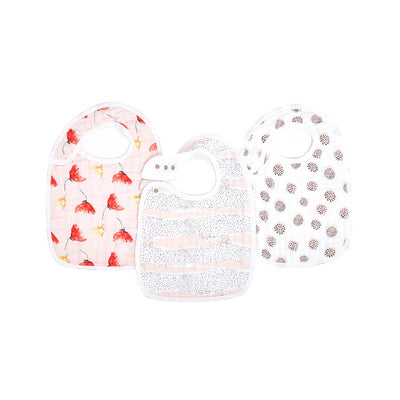 aden + anais Snap Bibs - Picked for You - 3 Pack-Bibs- Natural Baby Shower