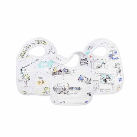 aden + anais Snap Bibs - Winnie the Pooh - 3 Pack-Bibs-Winnie the Pooh- Natural Baby Shower