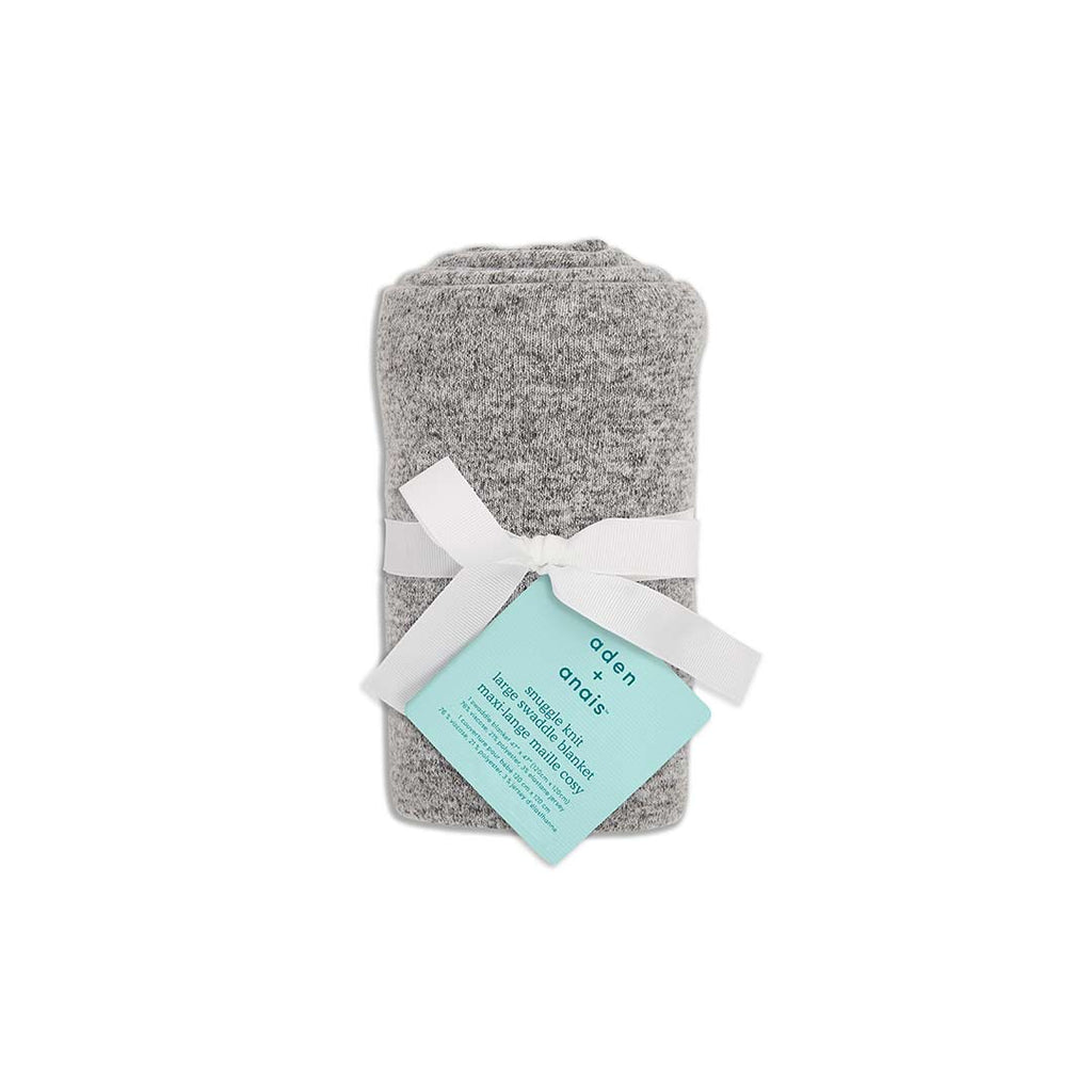 aden + anais Snuggle Knit Blanket - Heather Grey-Blankets- Natural Baby Shower