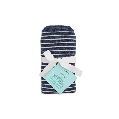 aden + anais Snuggle Knit Blanket - Navy Stripe-Blankets- Natural Baby Shower