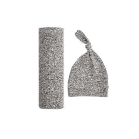 aden + anais Snuggle Knit Gift Set - Heather Grey-Clothing Sets- Natural Baby Shower