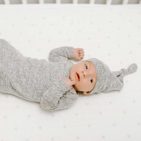 aden + anais Snuggle Knit Hat - Heather Grey-Hats-One Size-Heather Grey- Natural Baby Shower