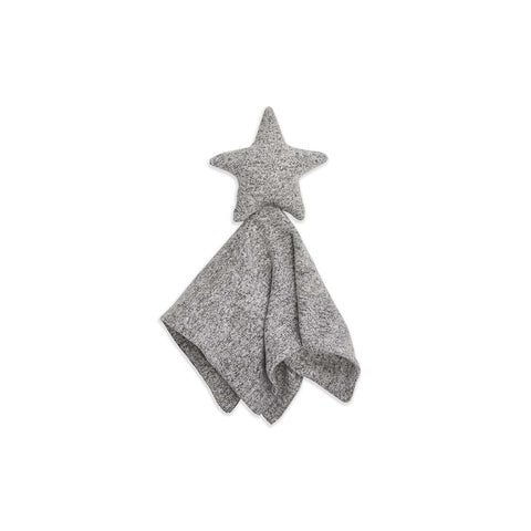 aden + anais Snuggle Knit Lovey - Heather Grey-Comforters- Natural Baby Shower