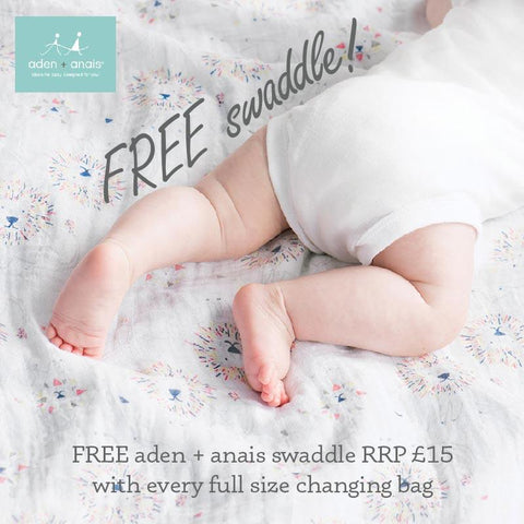 Free aden + anais Swaddle-Promo- Natural Baby Shower