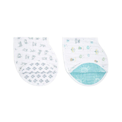 aden + anais Burpy Bibs - Now + Zen - 2 Pack-Bibs-Now + Zen- Natural Baby Shower