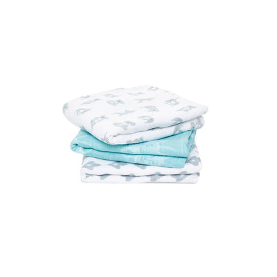 aden + anais Muslin Squares - Now + Zen - 3 Pack-Muslin Squares-Now + Zen- Natural Baby Shower