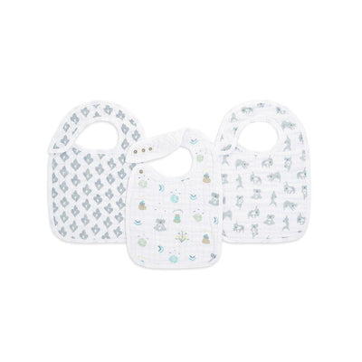 aden + anais Snap Bibs - Now + Zen - 3 Pack-Bibs-Now + Zen- Natural Baby Shower